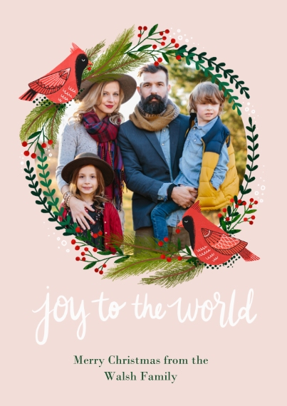Christmas Photo Cards 5x7 Cards, Premium Cardstock 120lb with Rounded Corners, Card & Stationery -Cardinal Christmas