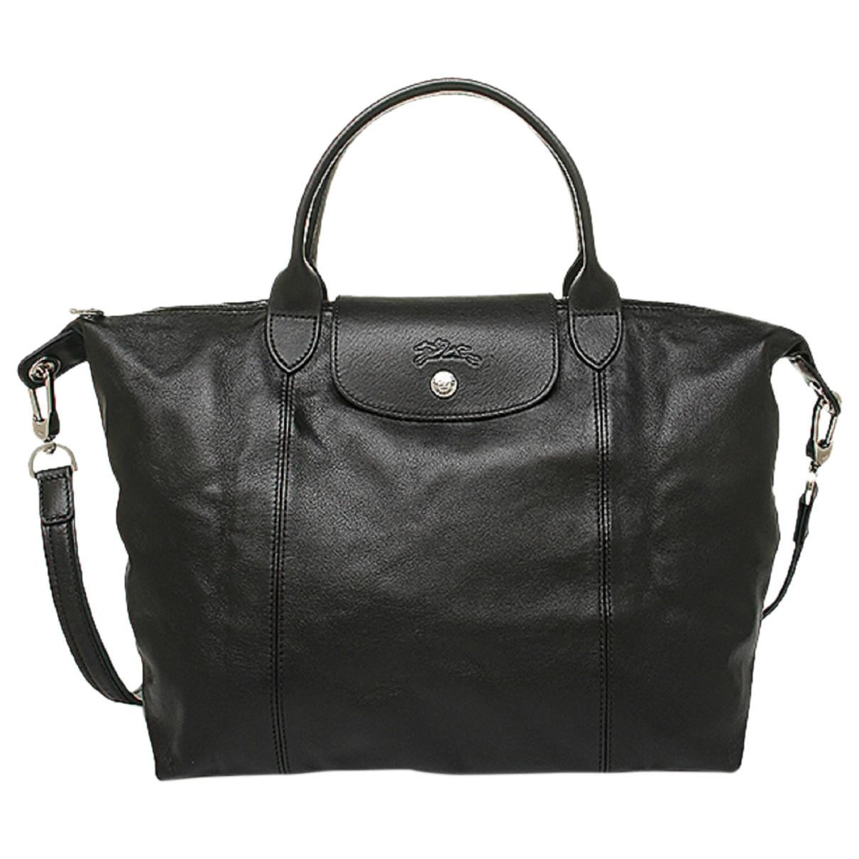 Longchamp - Sac a main Pliage  pour femme en cuir - noir