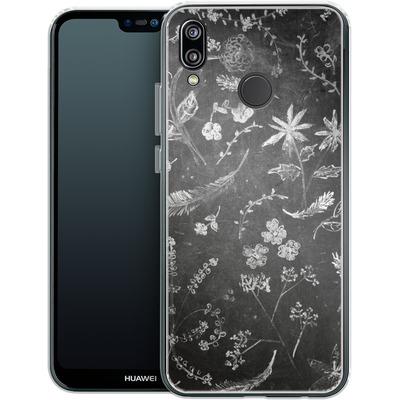 Huawei P20 Lite Silikon Handyhuelle - Flowers in chalk von ND Tank