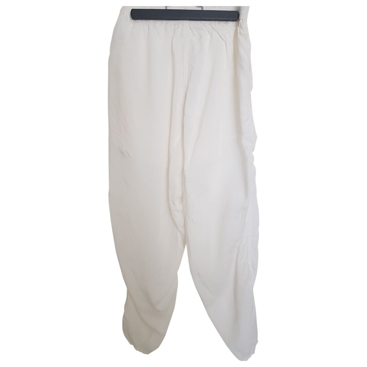 Mm6 \N White Trousers for Women 40 IT