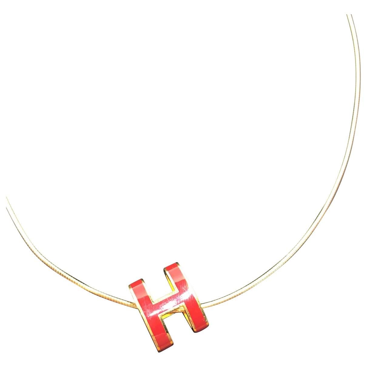 Hermes Pop H Kette in  Gold Metall