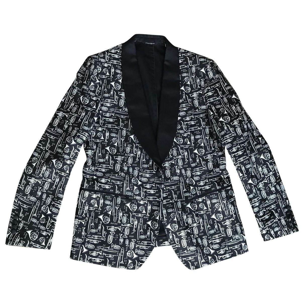 Dolce & Gabbana \N Black Silk jacket  for Men 48 IT