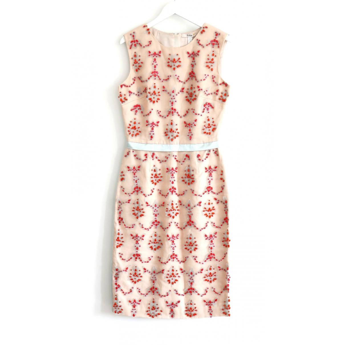 Erdem \N Kleid in  Rosa Seide