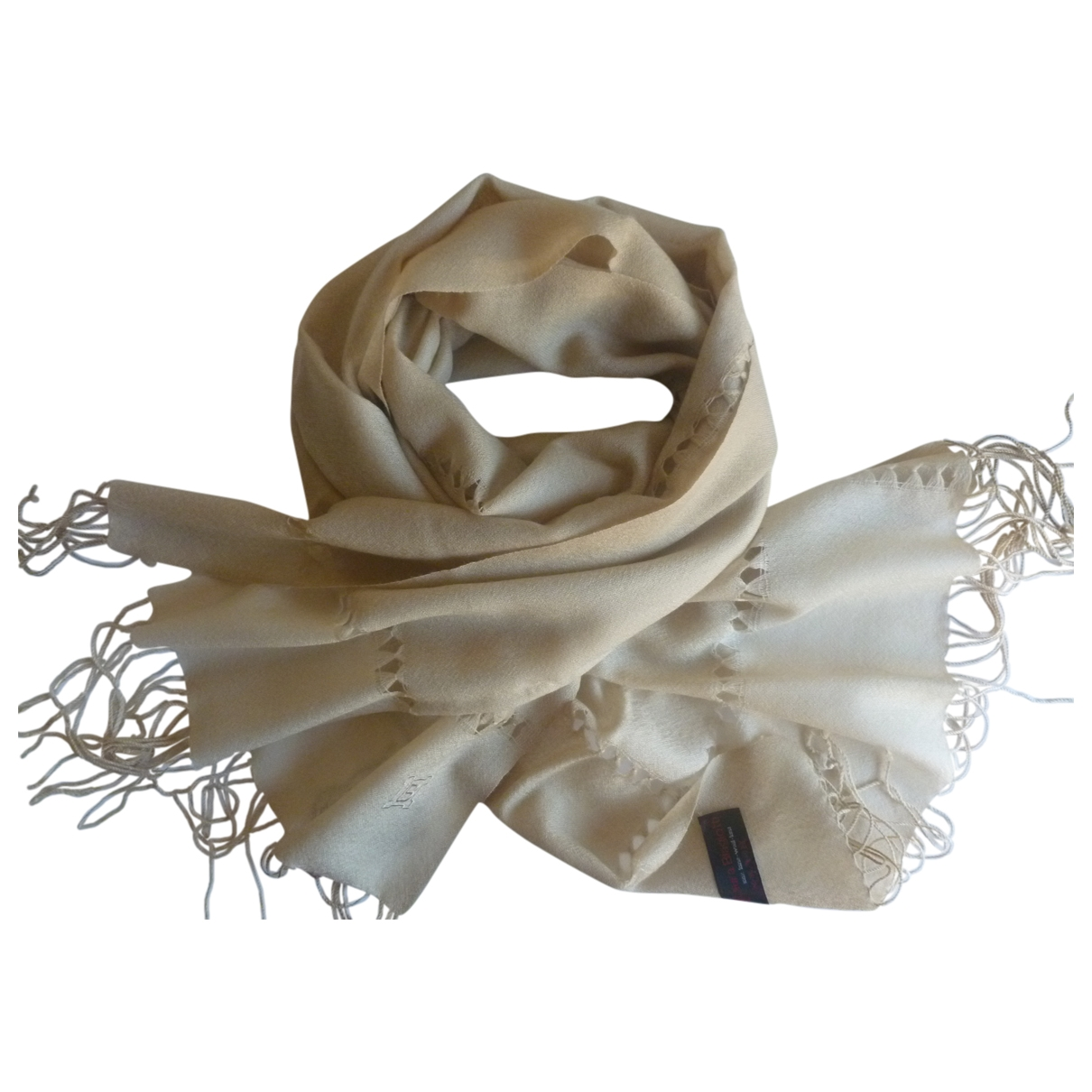 Non Signé / Unsigned \N Beige Wool scarf for Women \N