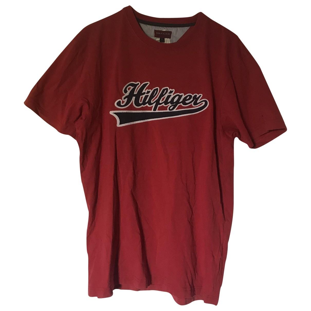 Tommy Hilfiger \N Red Cotton T-shirts for Men L International