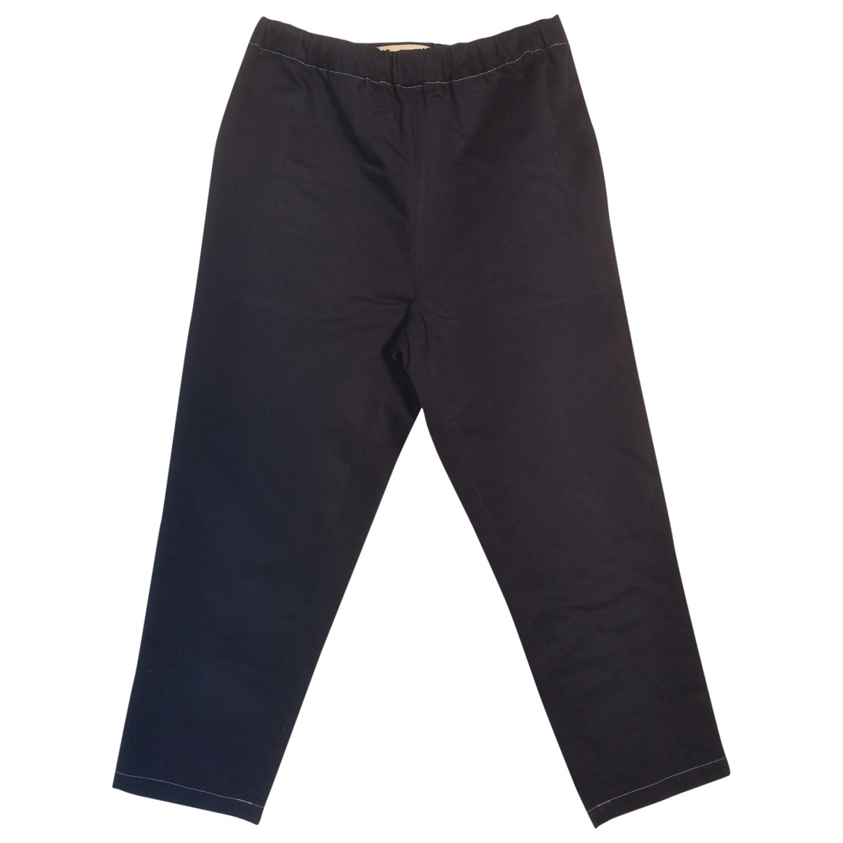 Pantalon en Algodon Azul Marni