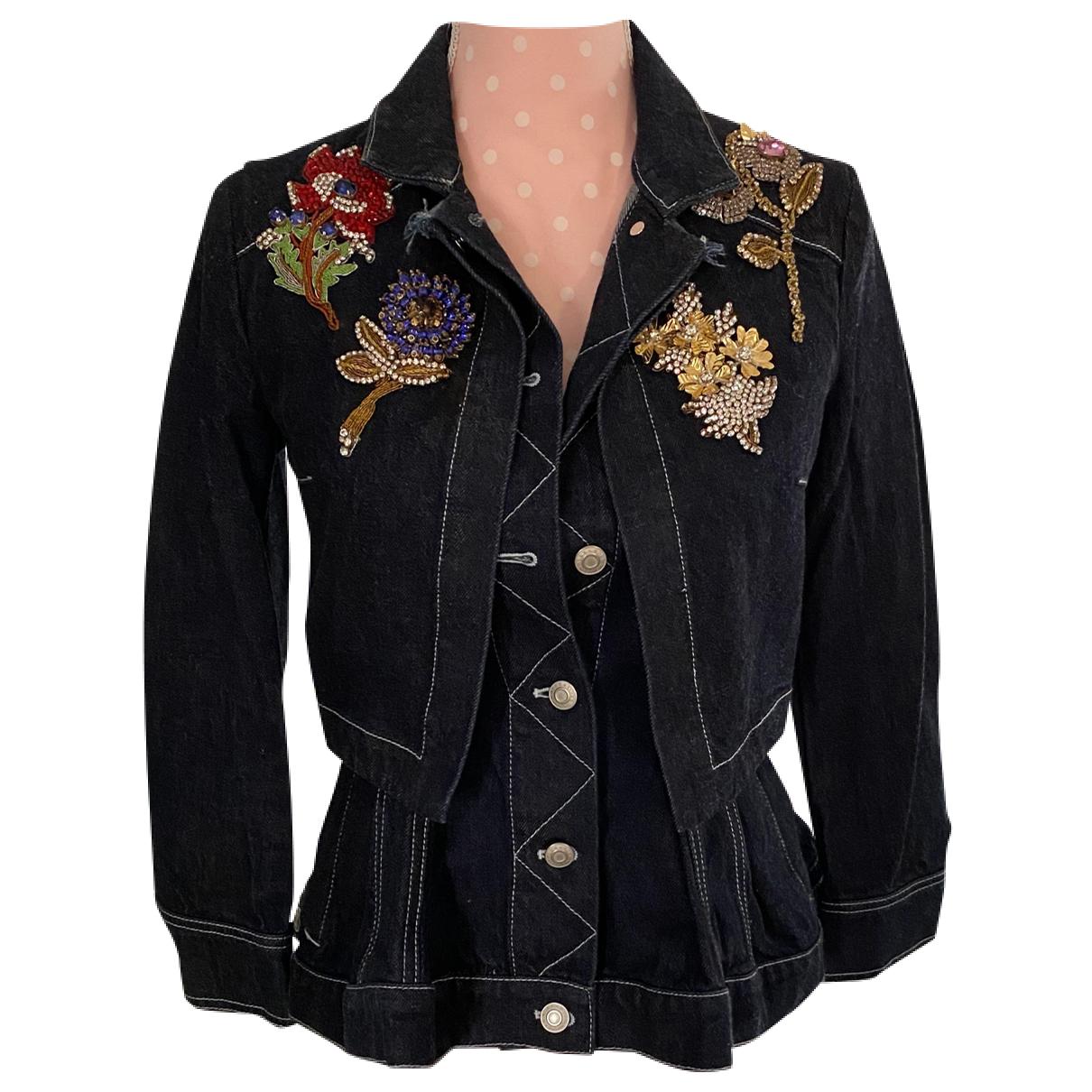 Alexander Mcqueen N Blue Cotton jacket for Women 38 FR