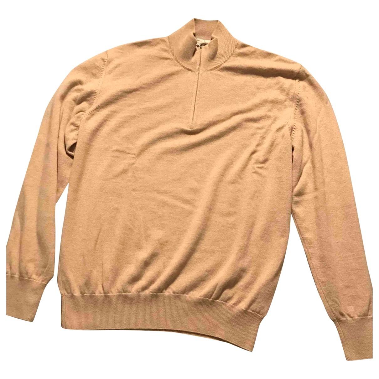 Non Signé / Unsigned \N Beige Cashmere Knitwear & Sweatshirts for Men 52 IT