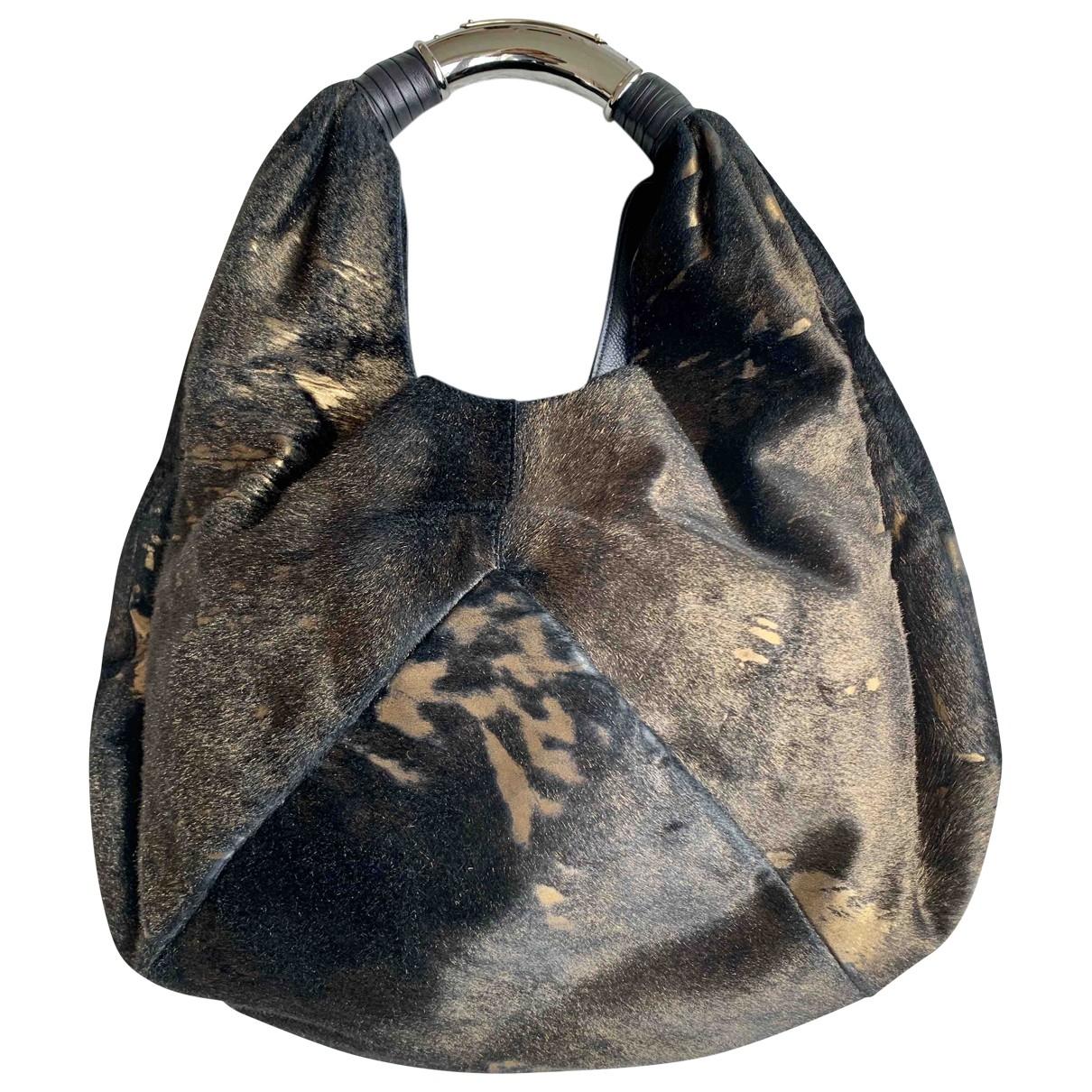 Bvlgari \N Black Pony-style calfskin handbag for Women \N