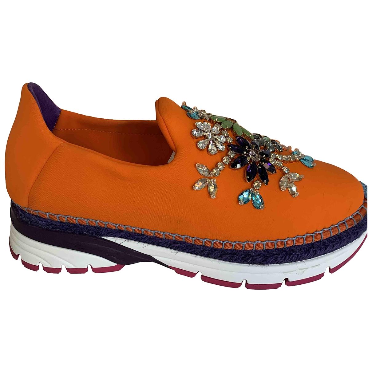 Dolce & Gabbana - Baskets   pour femme - orange