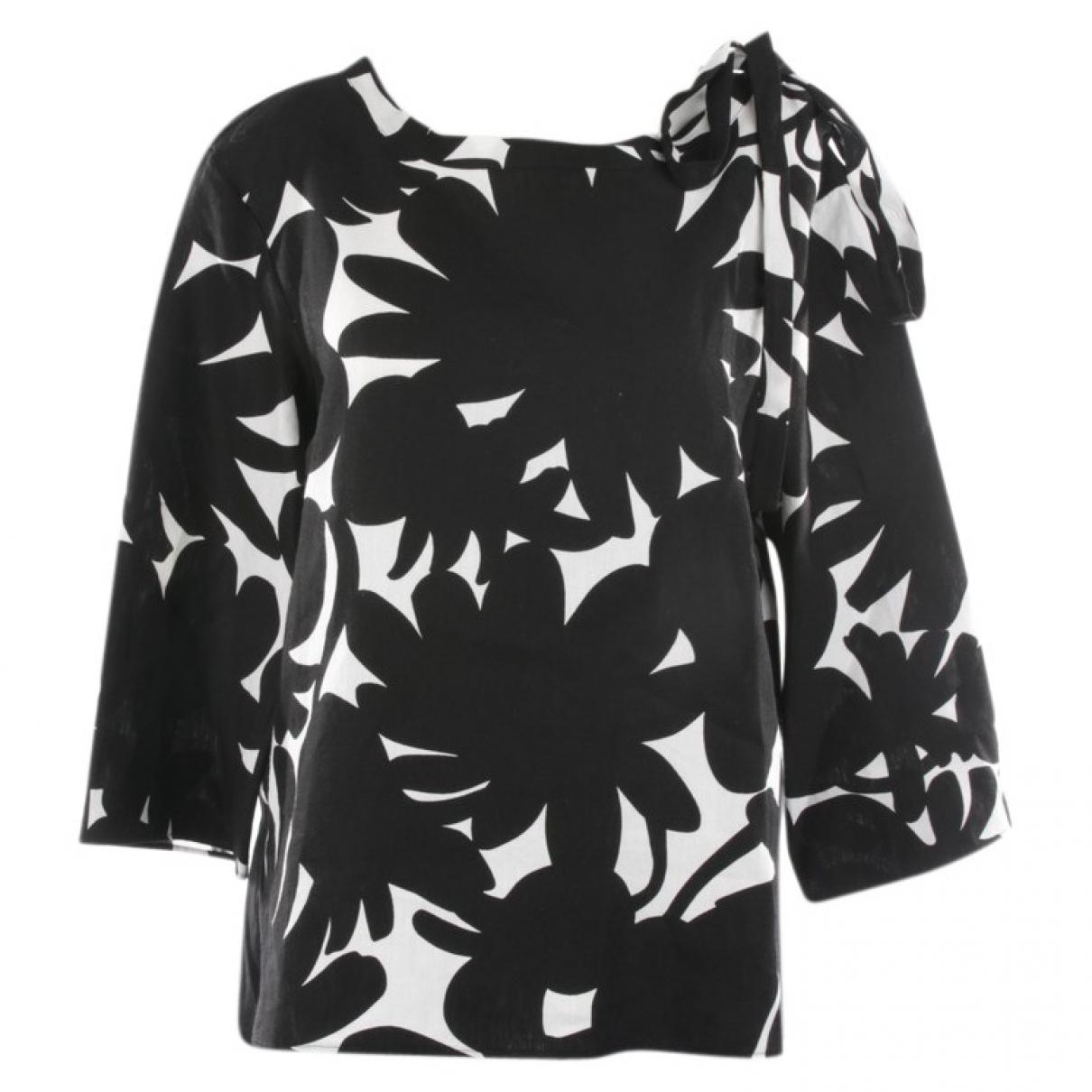 Marni - Top   pour femme en lin - noir