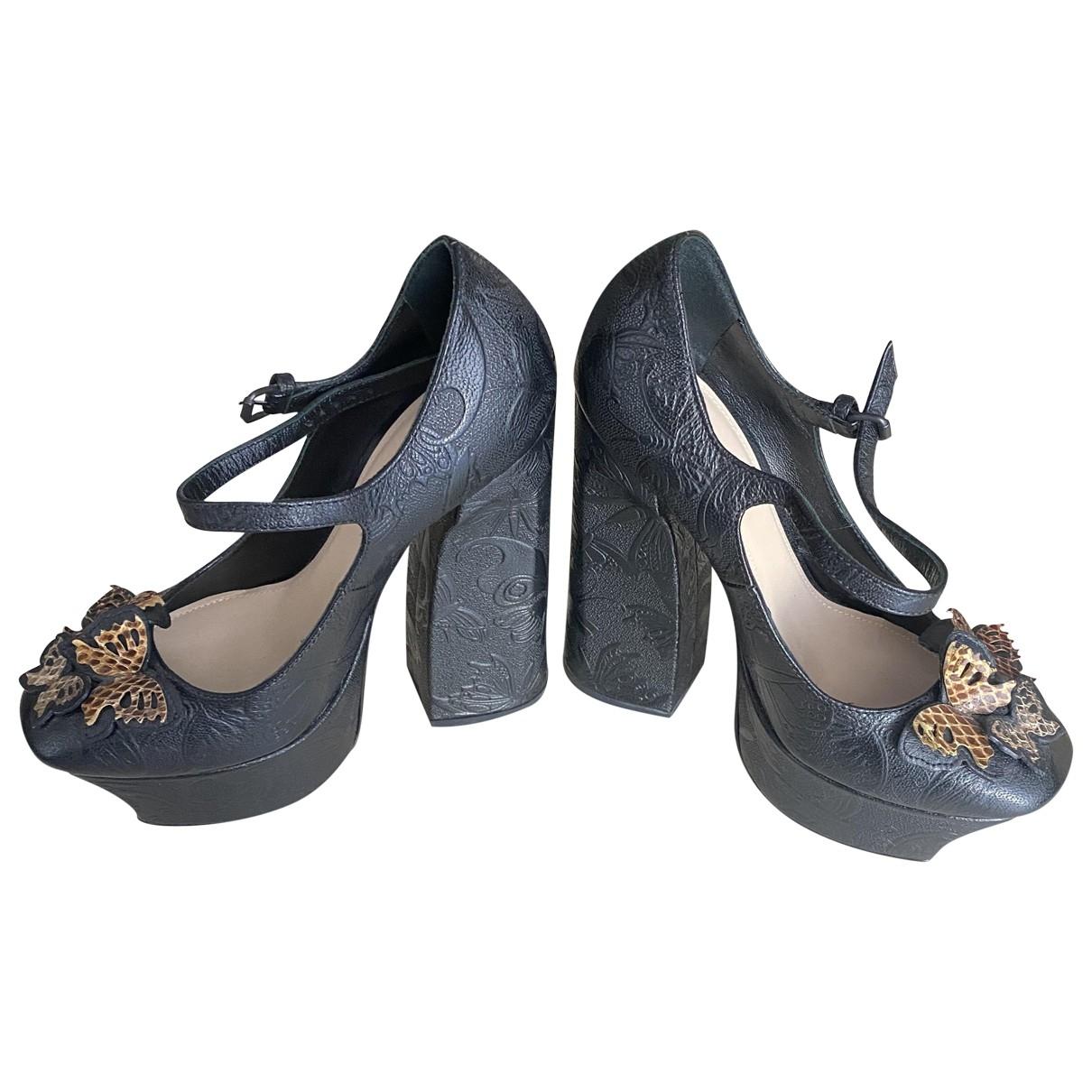 Bottega Veneta - Escarpins   pour femme en cuir - gris