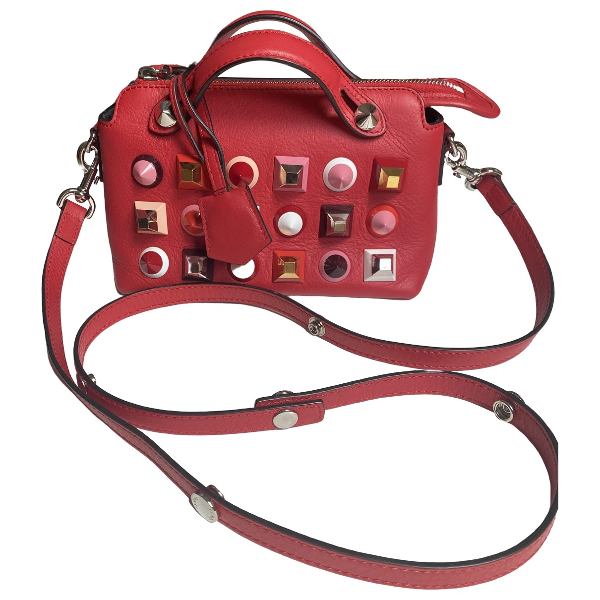 Fendi By The Way  Handtasche in  Rot Leder