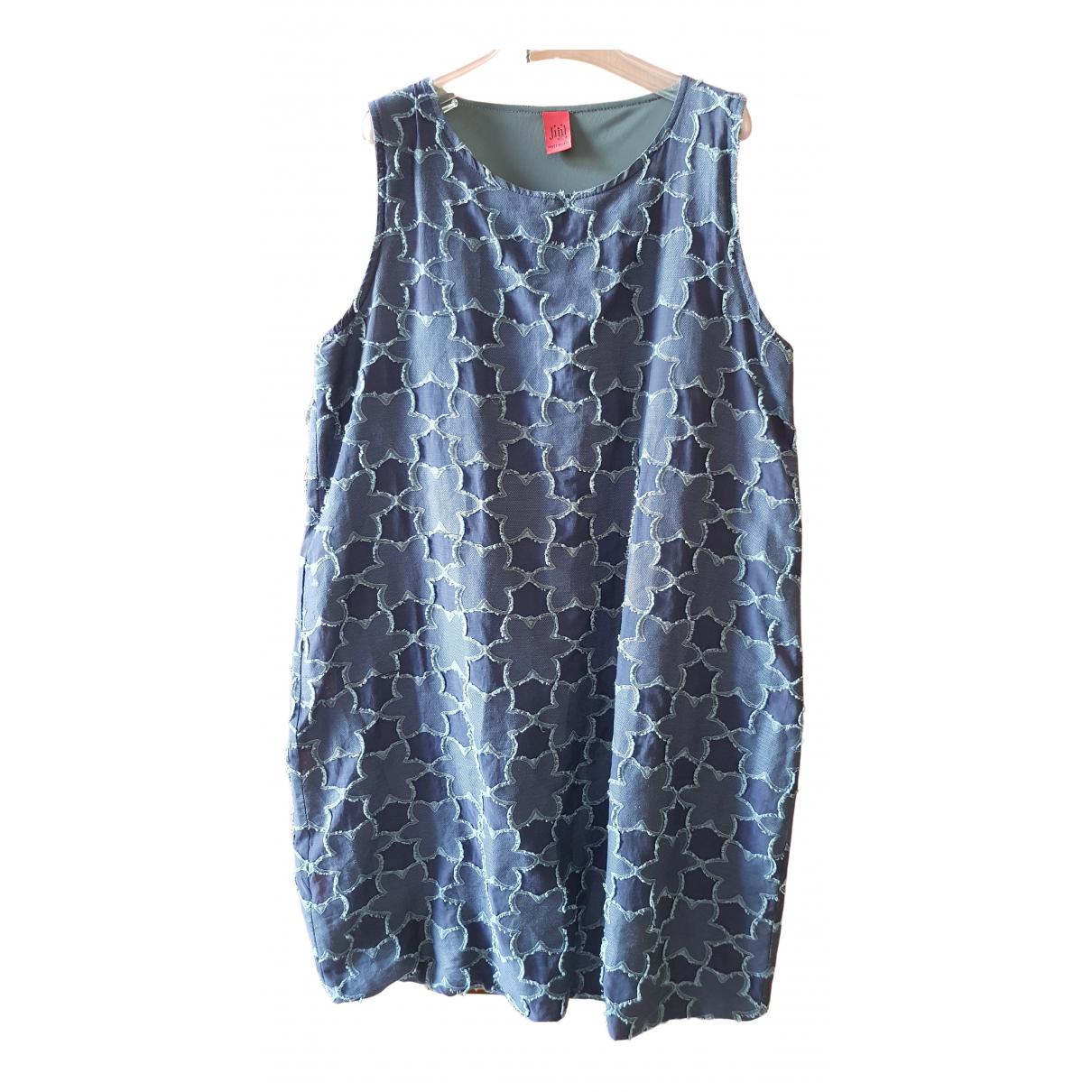 Jijil \N Kleid in  Blau Baumwolle