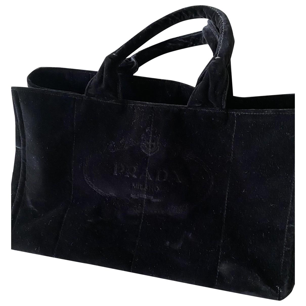 Prada \N Black Velvet handbag for Women \N