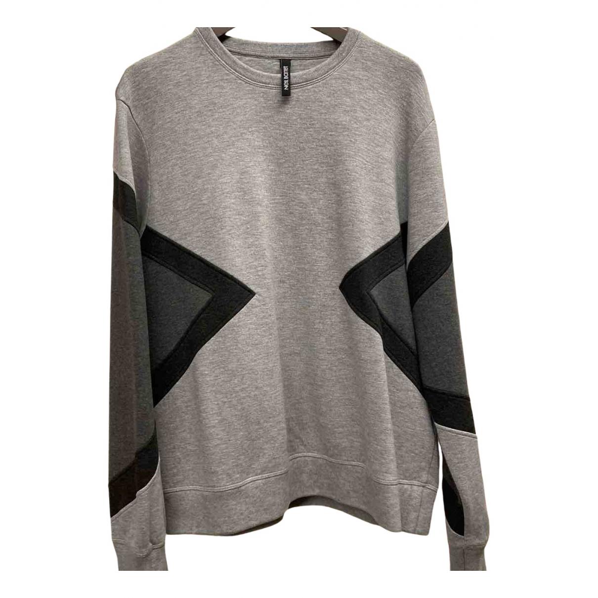 Neil Barrett \N Pullover.Westen.Sweatshirts  in  Grau Baumwolle