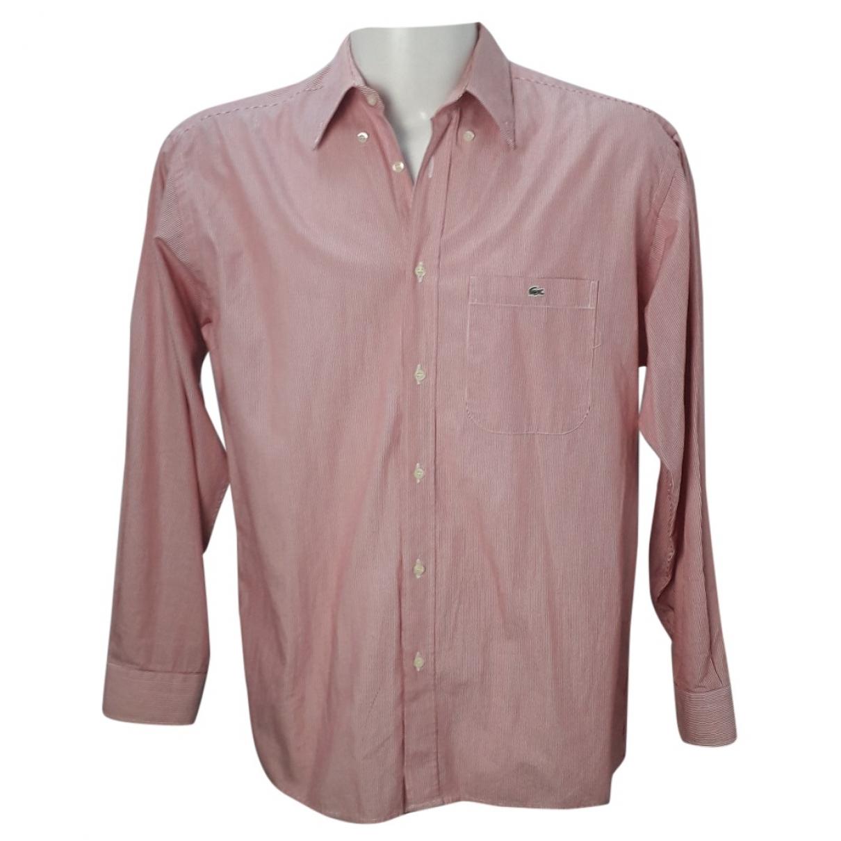 Lacoste - Chemises   pour homme en coton - rouge