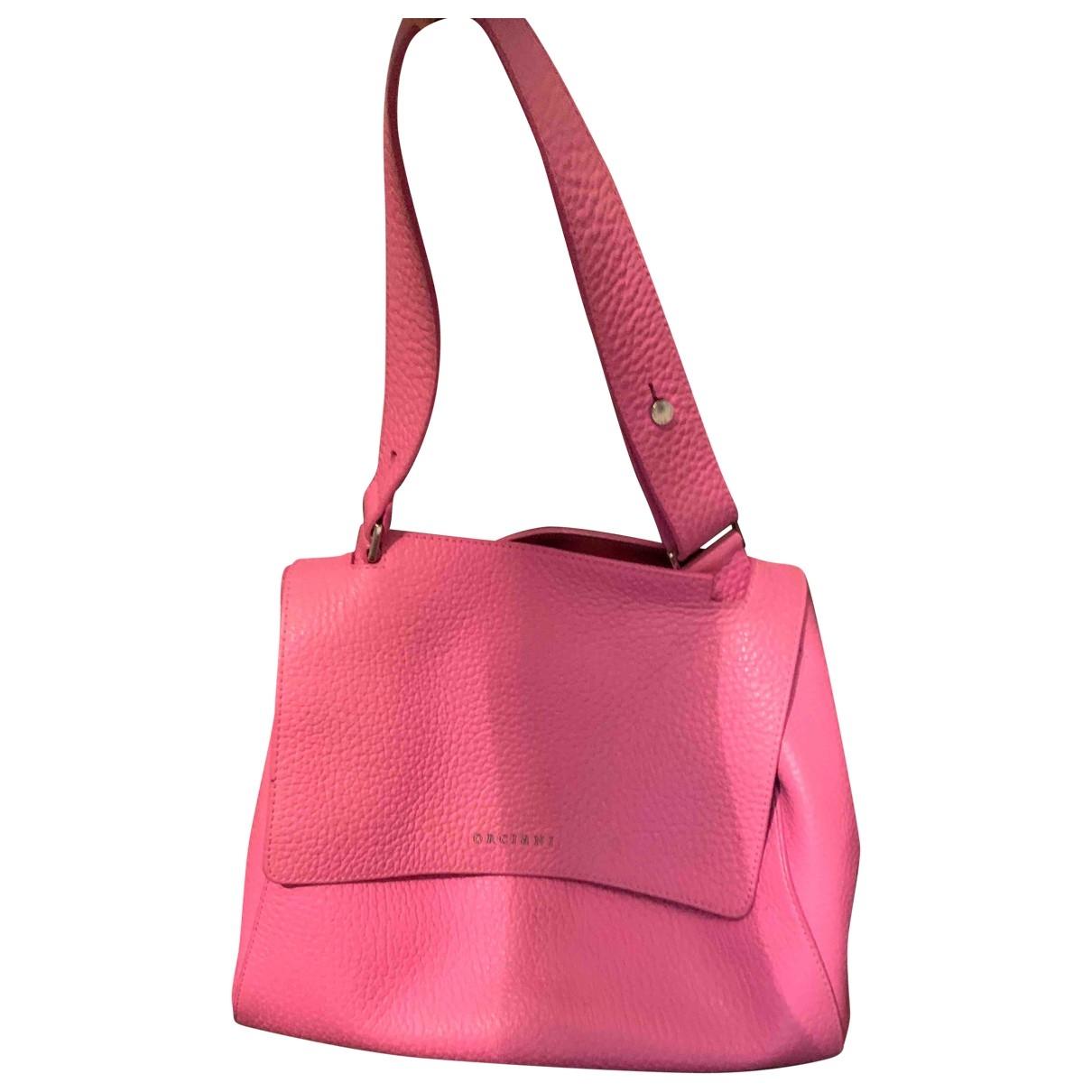 Orciani \N Handtasche in  Rosa Leder