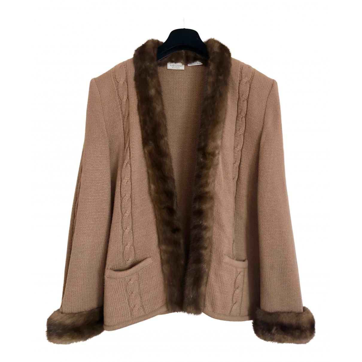 Valentino Garavani - Pull   pour femme en laine - camel