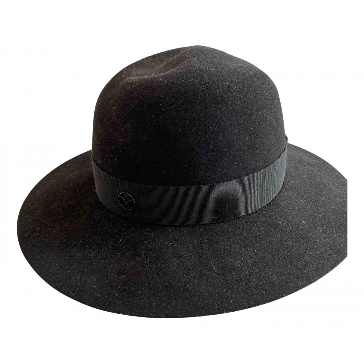 Maison Michel - Chapeau   pour femme en laine - noir
