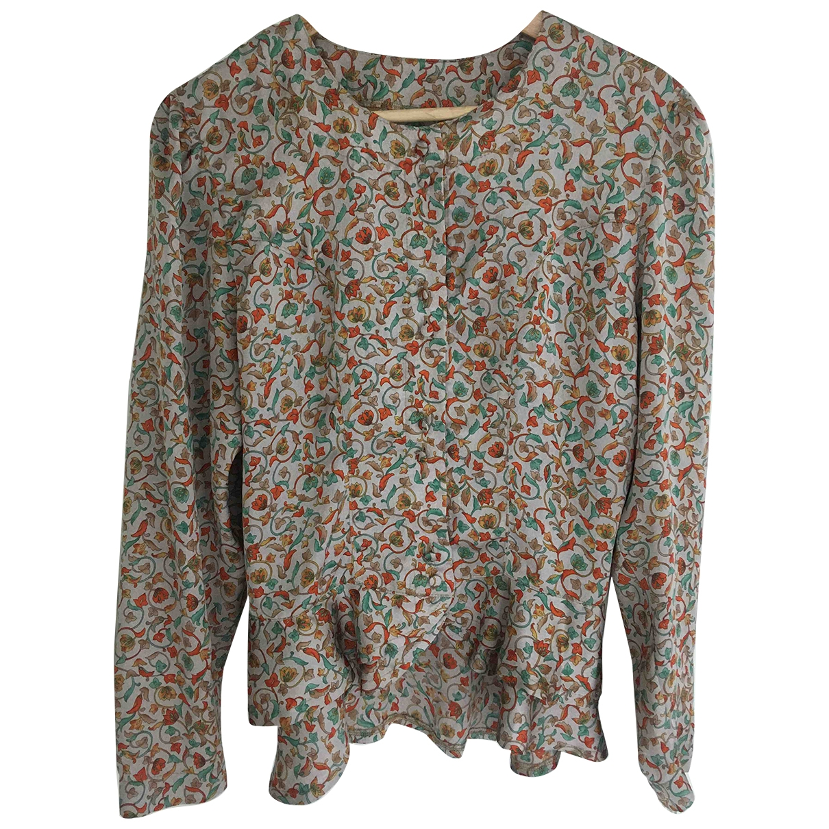 Non Signé / Unsigned \N Multicolour Silk  top for Women 36 FR