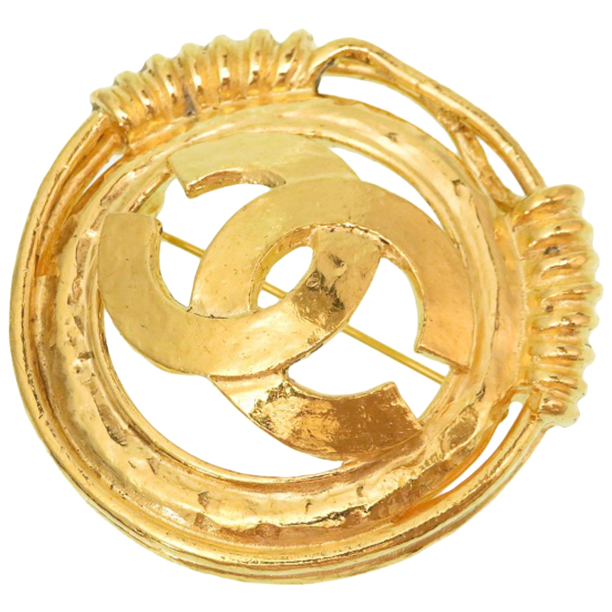 Broche en Metal Dorado Chanel