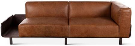 ZWCISOFBC Chiavari Collection Sofa with Storage and Leather Upholstery in