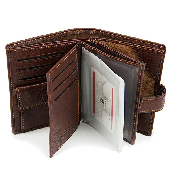 9 Card Holders PU Leather Wallet Business Card Pack Coin Bag For Men
