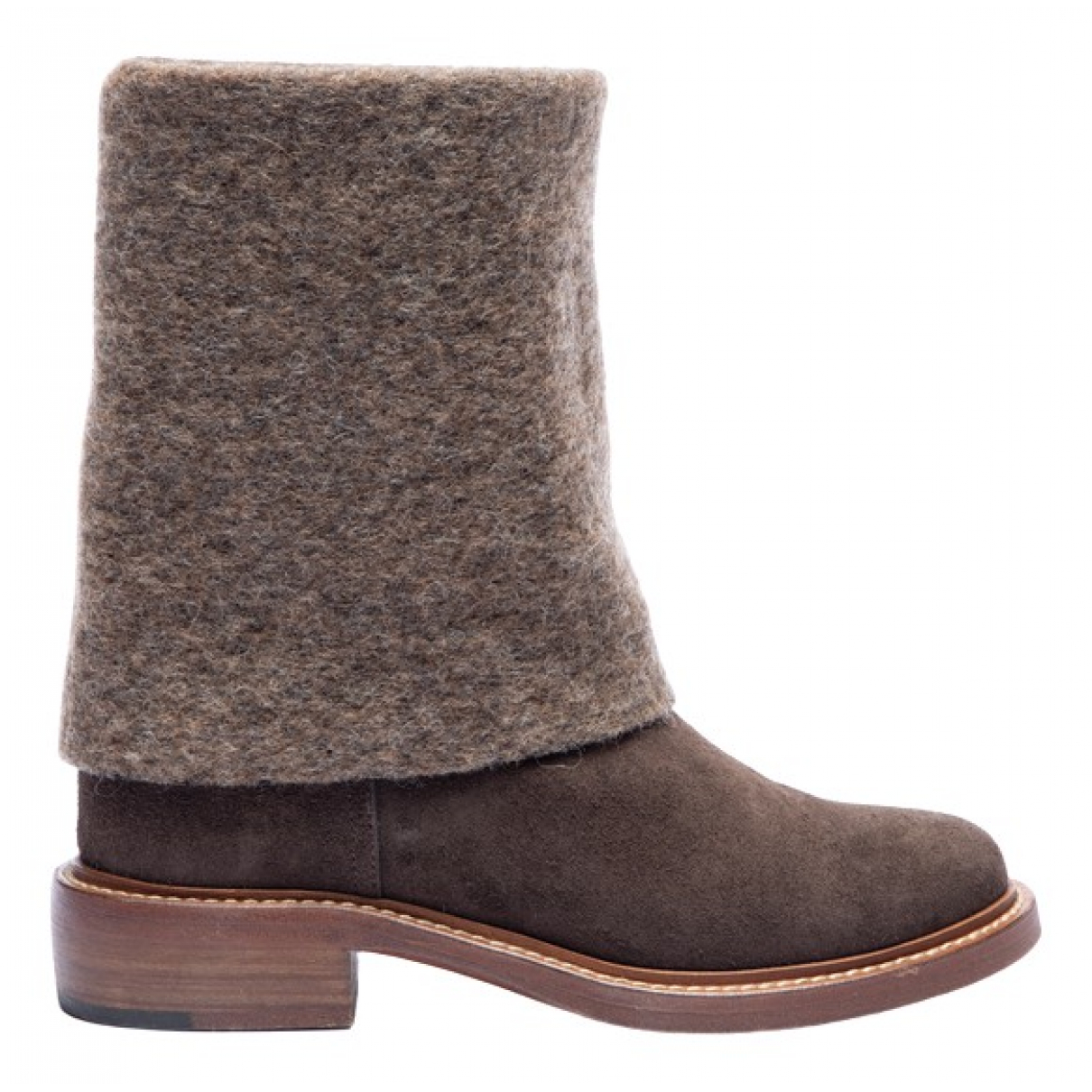 Chanel \N Brown Suede Ankle boots for Women 37.5 EU