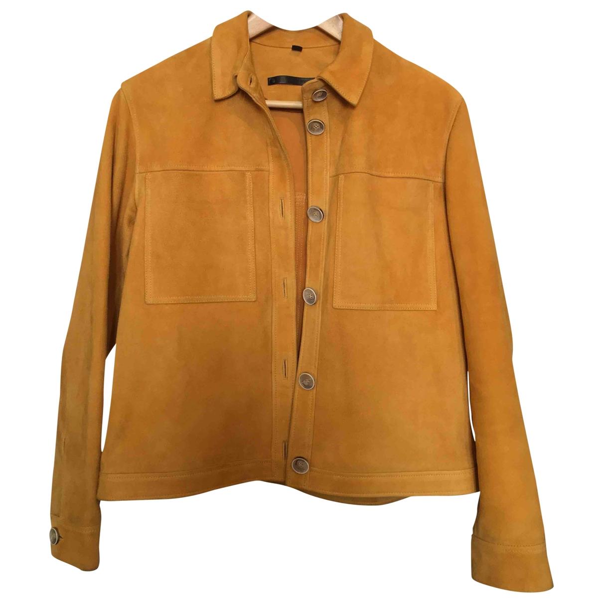 Topshop - Veste   pour femme en suede - jaune