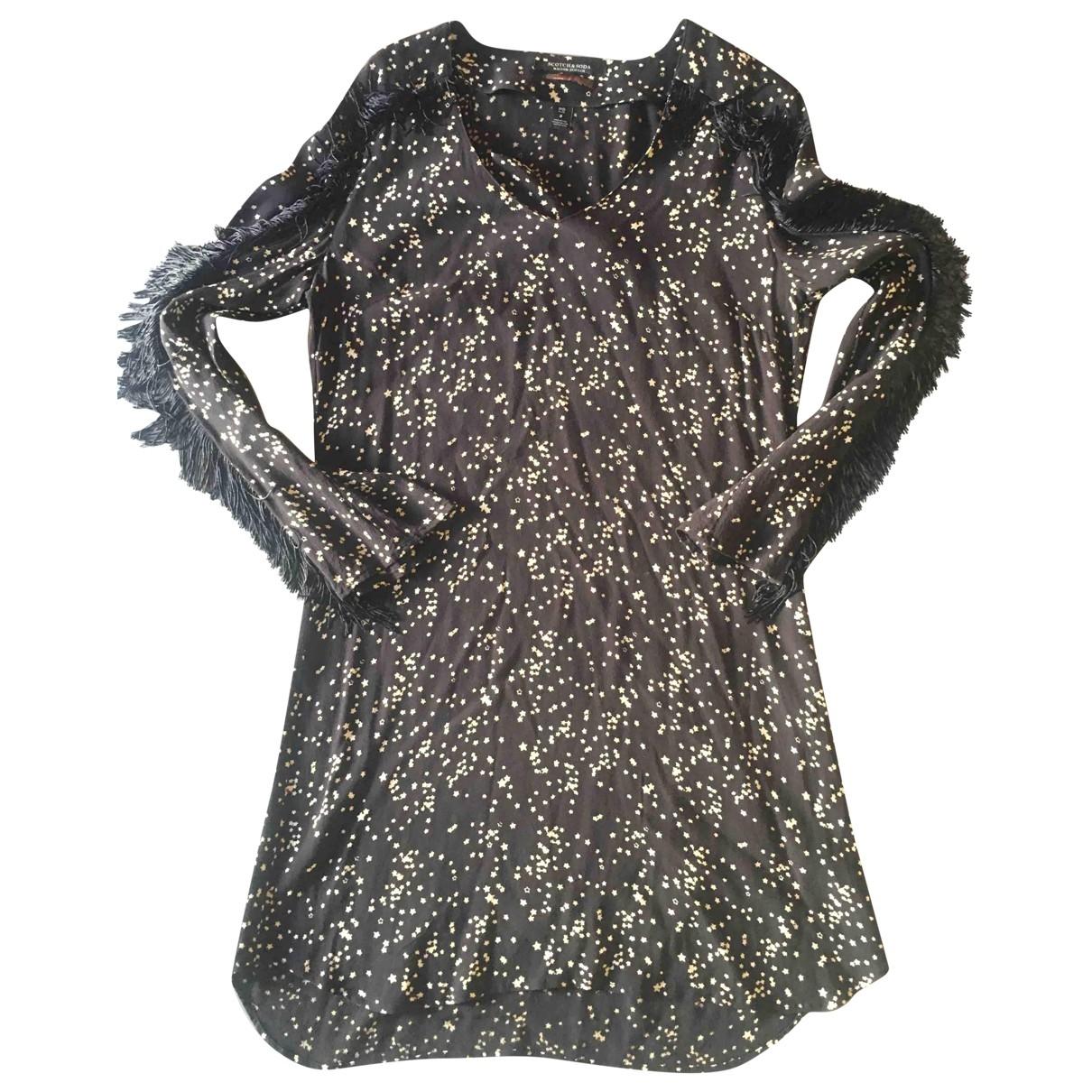 Scotch & Soda \N Kleid in  Schwarz Baumwolle