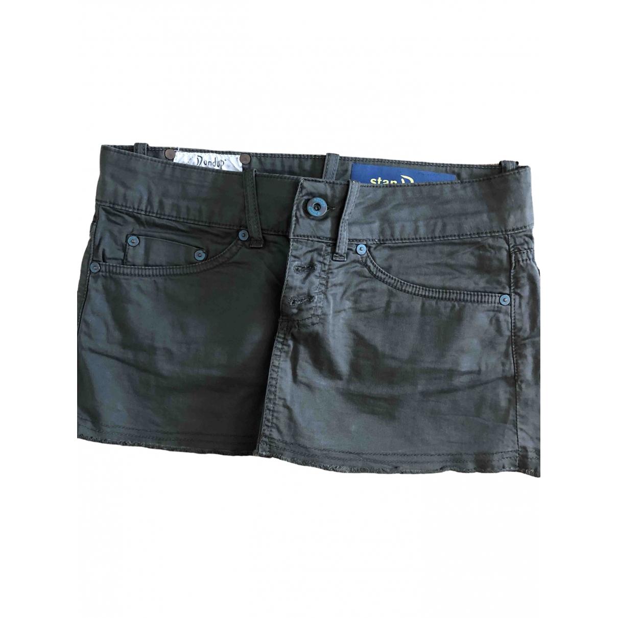 Dondup \N Khaki Cotton skirt for Women 38 IT