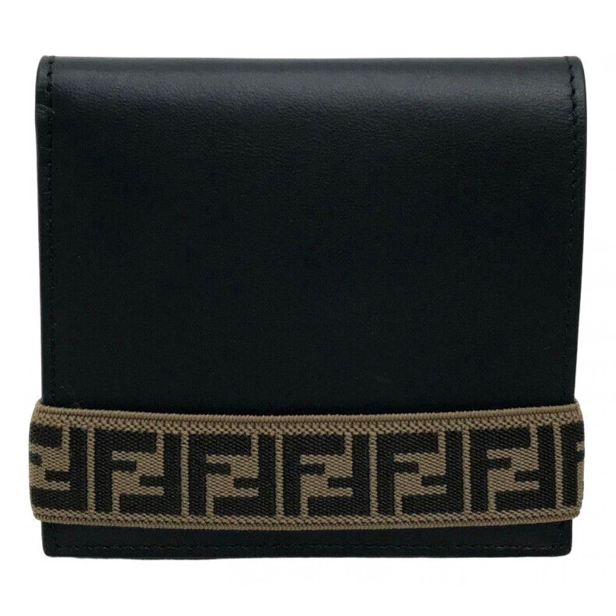 Fendi N Black Leather wallet for Women N