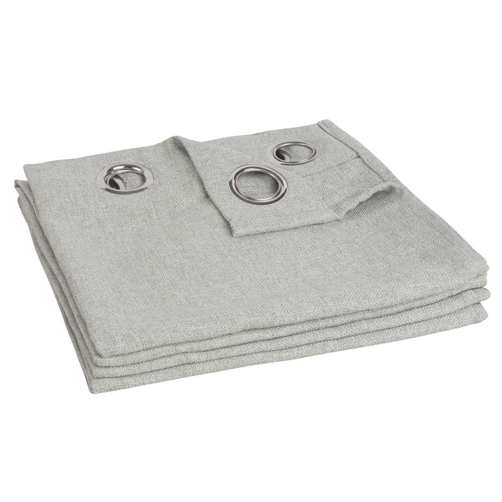 Grau-gruen Osenvorhang 140x270, 1 Vorhang