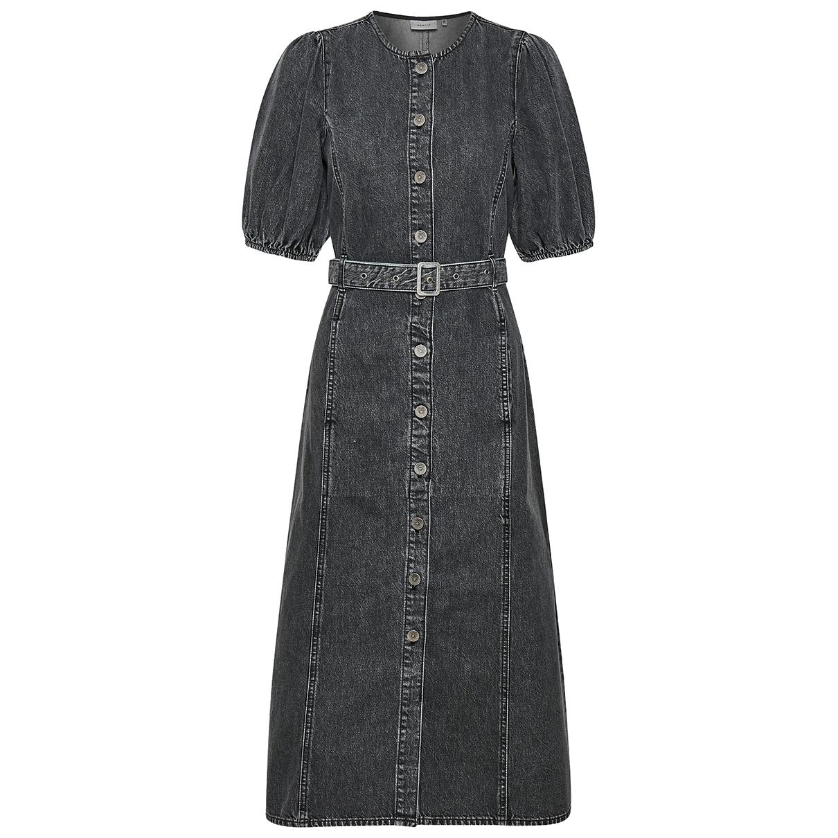 Gestuz \N Kleid in  Schwarz Denim - Jeans