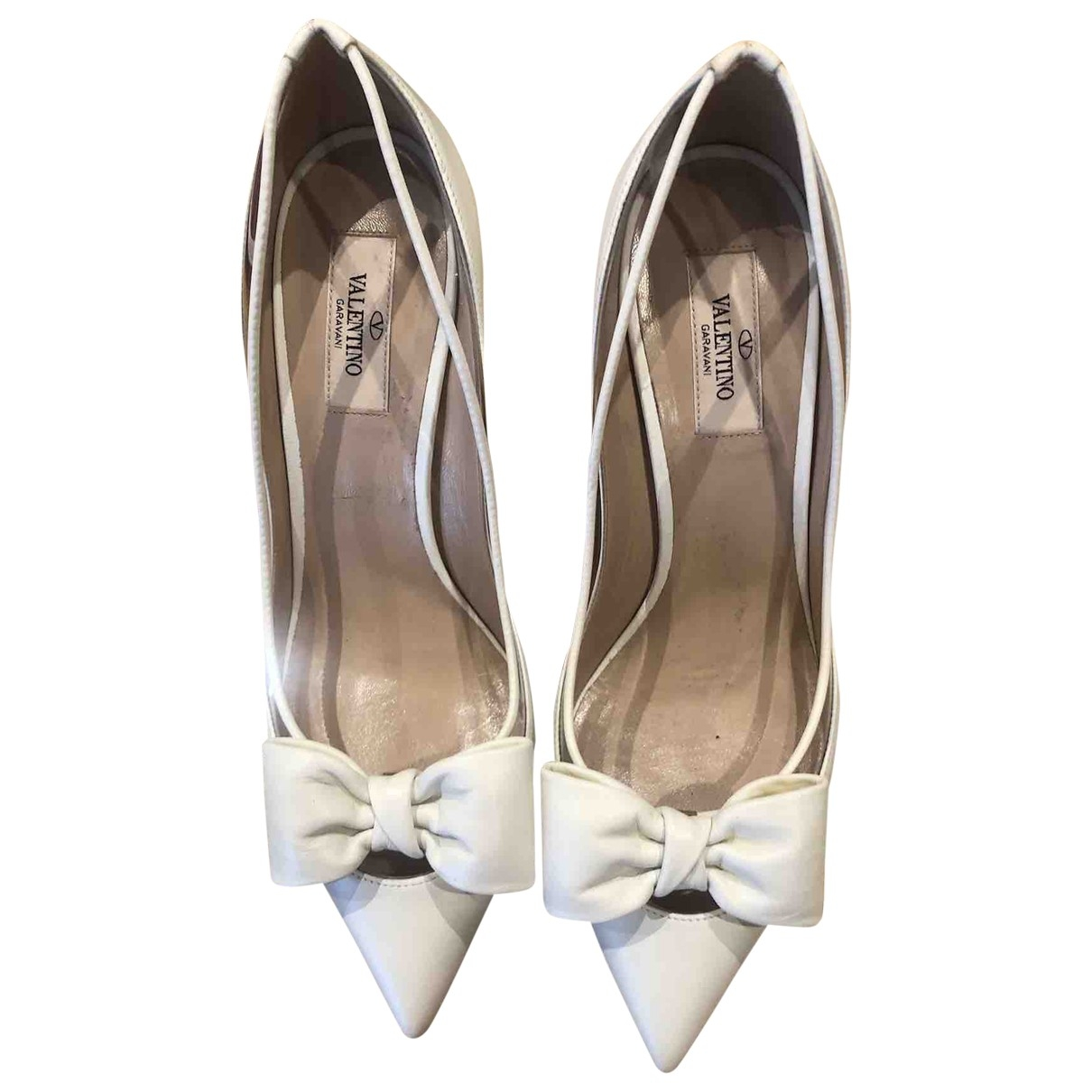 Valentino Garavani - Escarpins   pour femme en cuir - blanc