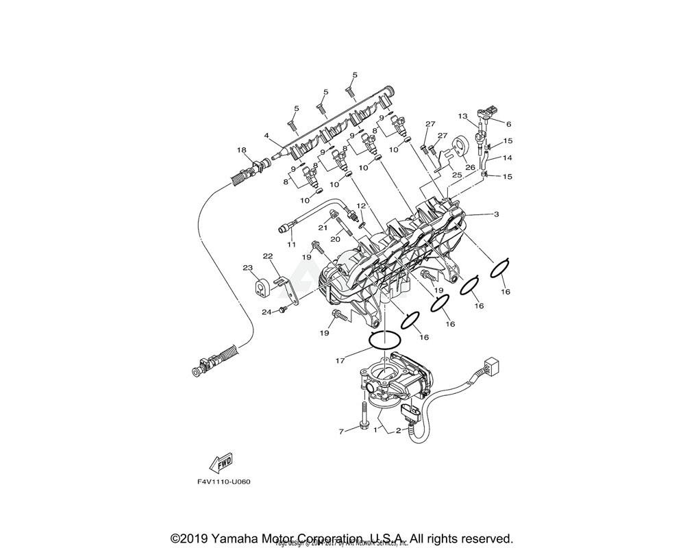 Yamaha OEM 6CS-14572-00-00 PLATE, STAY