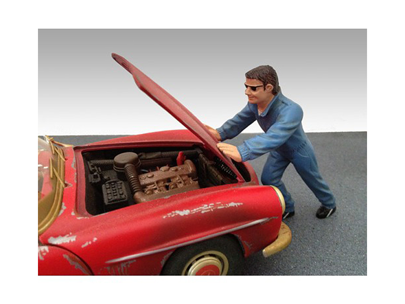 Mechanic Ken Figurine for 1/18 Diecast Model Car by American Diorama