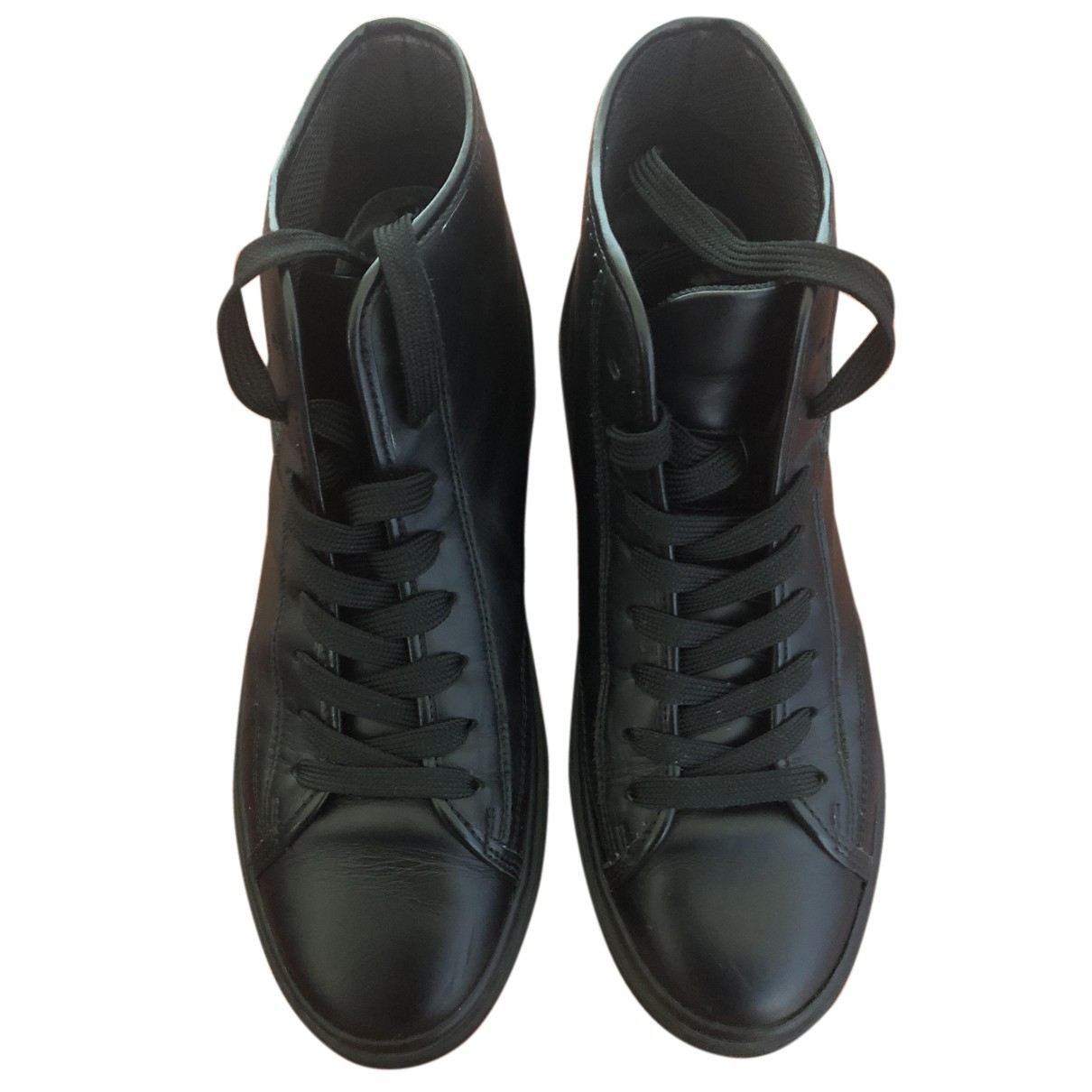 Hogan N Black Leather Trainers for Women 39 EU