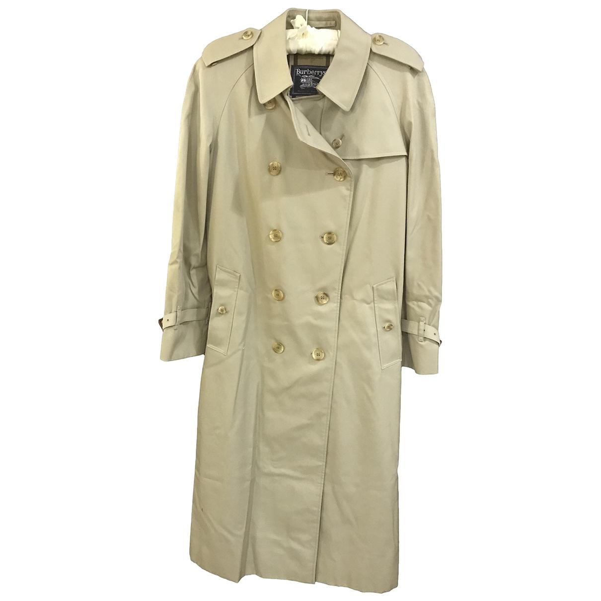 Burberry - Trench   pour femme en coton - gris