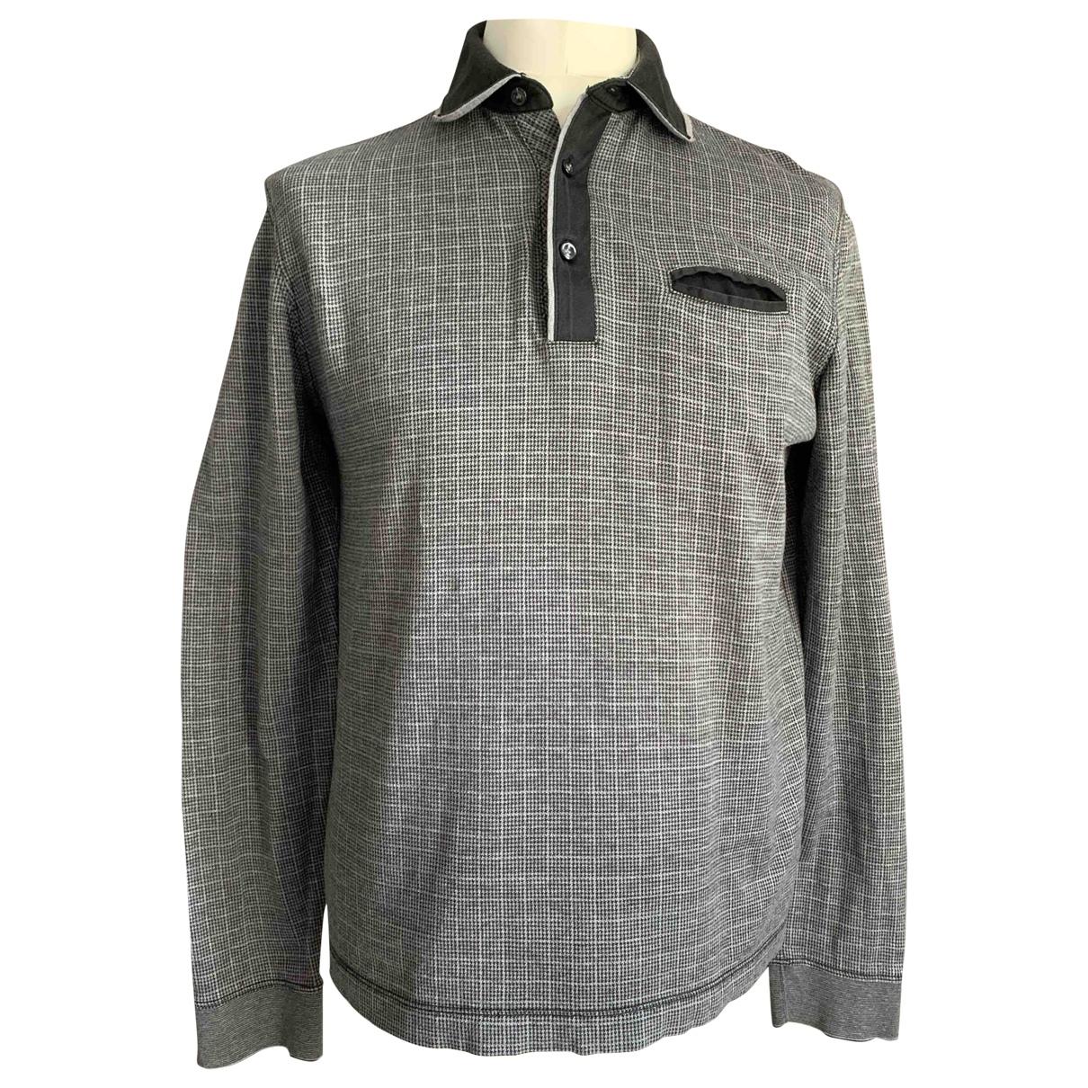 Boss - Polos   pour homme en coton - gris