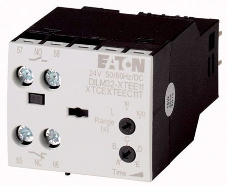 Eaton DILM Series Analogue (OFF Delay) Electronic Timer, Range 0.5 → 10s, NO/NC Contacts, 200 → 240 V ac Coil