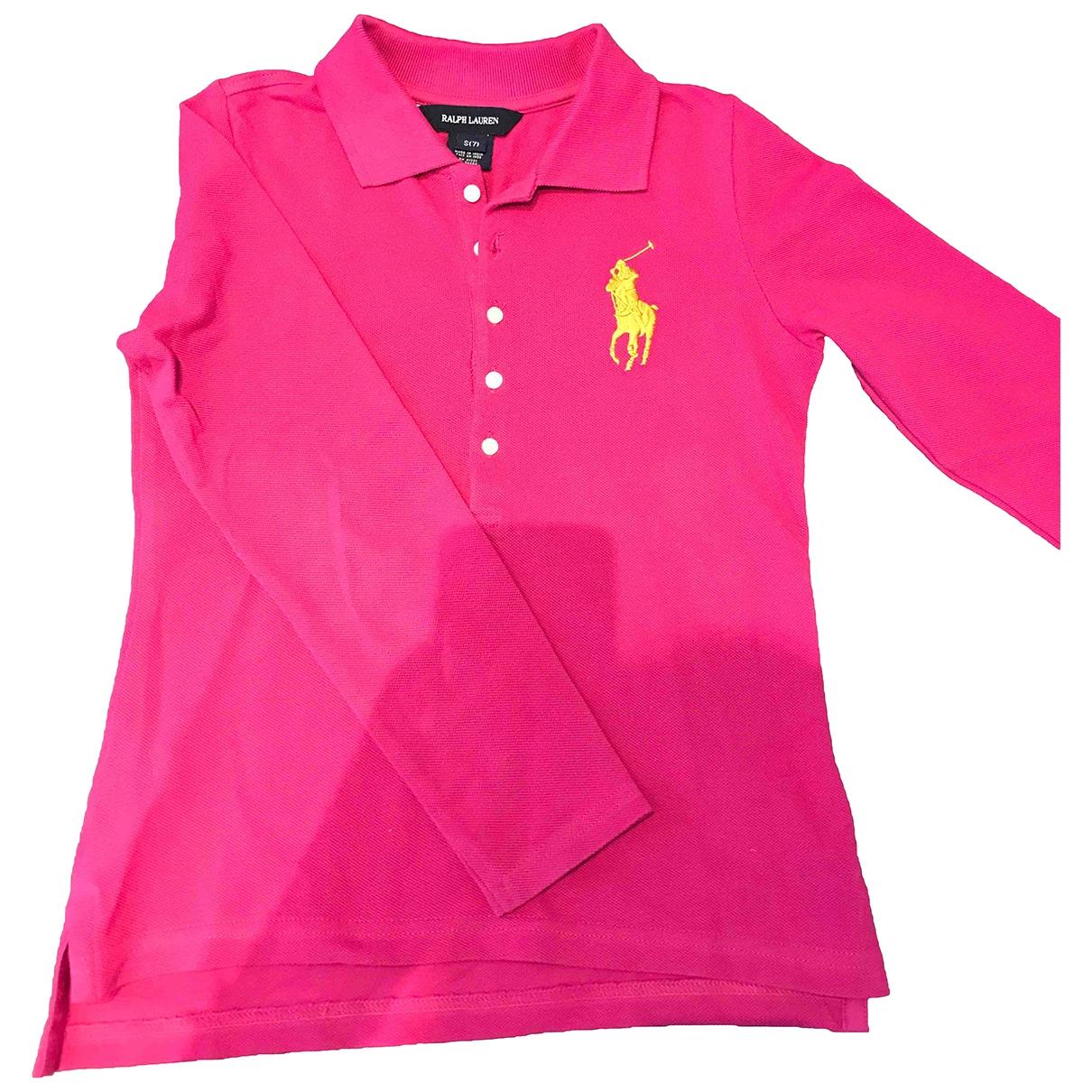 Camisetas en Algodon Rosa Ralph Lauren