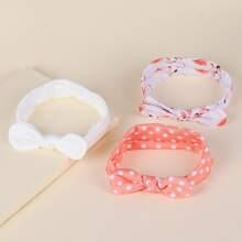 3 Stuecke Baby Haarband mit Schleife Dekor