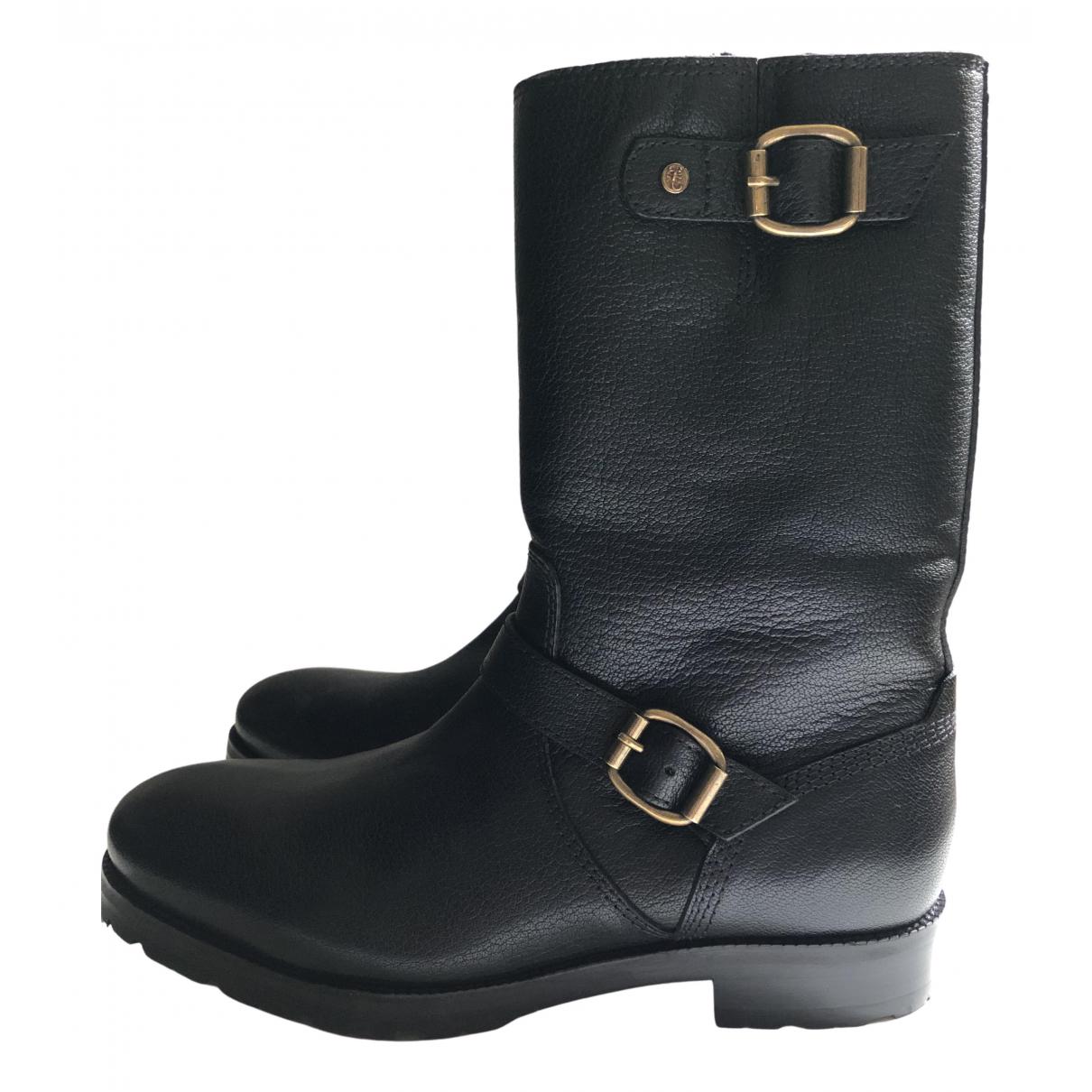 Jimmy Choo - Bottes.Boots   pour homme en cuir - noir