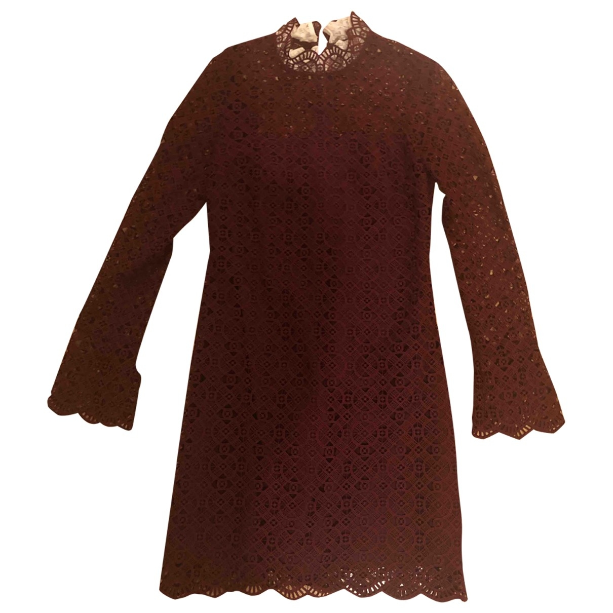 Sandro Fall Winter 2019 Burgundy Lace dress for Women 36 FR
