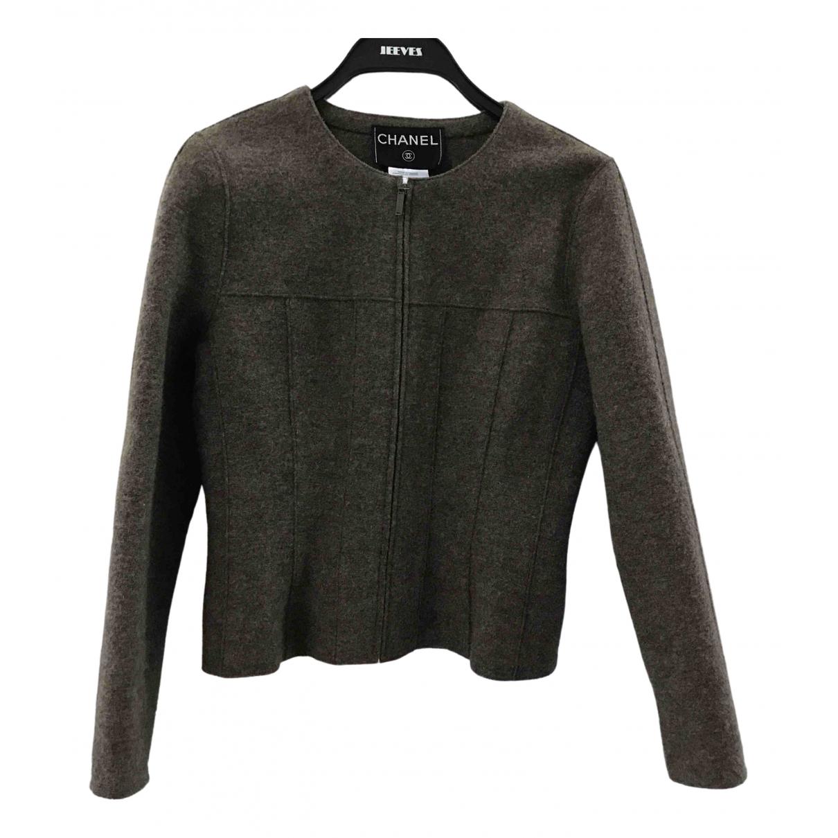 Chanel - Veste   pour femme en laine - marron