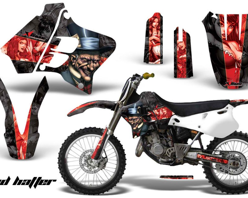 AMR Racing Dirt Bike Graphics Kit Decal Sticker Wrap For Yamaha YZ125 YZ250 1993-1995áHATTER RED BLACK