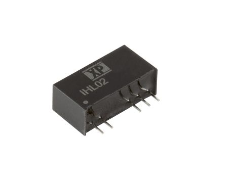 XP Power IHL02 2W Isolated DC-DC Converter Through Hole, Voltage in 21.6 → 26.4 V dc, Voltage out 9V dc