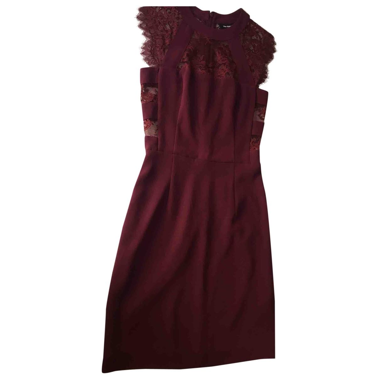 The Kooples \N Kleid in  Bordeauxrot Spitze